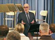 Präsident Marcel Sieber darf auf ereignis- und erfolgreiche vierzig Jahre des Bestehens der Musikschule Mittelrheintal «Musik im Zentrum» zurückblicken. (Bild: Ulrike Huber)