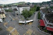 Beim Schibenertor soll eine neue Parkgarage entstehen. (Bild: Hannes Thalmann)