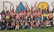Der VC Altstätten und das Ostschweiz Druck Stevens Bike Team brillierten. Dabei zeigten die Kids vor, hier Lerino Loher (r.) wie man es macht. (Bilder: pd)
