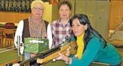 Miep Moser, Stefanie Wittwer und Sandra Zeugin vom Spital Altstätten schossen sich auf den siebten Rang. (Bild: Mäx Hasler)