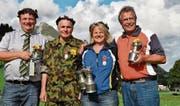 Die Sieger: Martin Forrer, René Koller, Sonja van Winden und Hansueli Schmid (von links). (Bild: Beatrice Bollhalder)