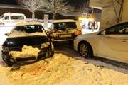 Unfall auf der Landhausstrasse. (Bild: Stapo SG)