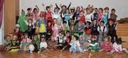 Eine Schar bunt verkleideter Kinder vergnügte sich an der Kinderfasnacht des Mütterteams. (Bild: PD)