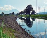 Der Lettenabtrag ist eine Massnahme im Hochwasserschutz-Projekt. (Bild: Archiv/Kurt Latzer)