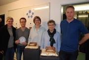 Das Team hinter dem «Zwingli Code»: (von links) Sabine Kutzelmann, Thomas Boos, Beatrice Straub, Symela Müller-Mystakidis und Michael Burtscher. (Bild: Noëlle Lee)