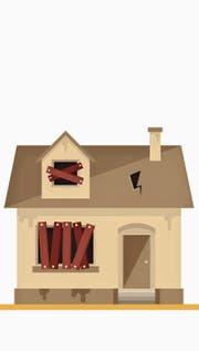 Die Message ist klar. Der Verein Zentrum Wattwil möchte erreichen, dass aus unansehnlichen Wattwiler Häusern schmucke Gebäude werden. (Bild: : PD)