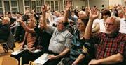117 Bürger nahmen an der Versammlung teil. Das entspricht einer Stimmbeteiligung von 4,56 Prozent. (Bild: Seraina Hess)