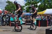 """Viel Action, Tricks und gewagte Jumps zeigen die Biker von """"Bikeshow.ch"""""""