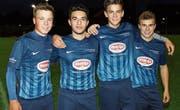 Beim FC Ebnat-Kappel wird auf den Nachwuchs gesetzt. Die vier Spieler mit Jahrgang 2000 beweisen dies. Joel Roth, Marlon Figaro, Nick Romer und Nils Hug (von links). (Bild: Walter Züst)