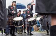 Der Samstag an den fünften Appowila Highland Games fiel buchstäblich ins Wasser. Das hatte finanzielle Folgen. (Bild: Hanspeter Schiess)