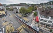 Am Oberen Graben wollte die Cityparking AG ein Parkhaus bauen. Jetzt muss das kantonale Baudepartement entscheiden. (Bild: Michel Canonica)