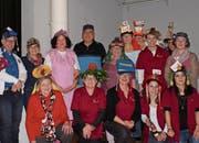 Frauengemeinschaft wirbt dekorativ für den Verein. (Bild: pd)
