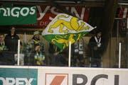 Die treuen Hockey-Thurgau-Anhänger waren auch auswärts gegen Ajoie dabei. (Bild: Sports-Media.ch)