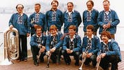 Die Buuremusig Berneck 1981 auf dem Lago Maggiore. (Bild: pd)