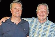 Robin Keller (links) und Roman Büeler treten aus dem Vorstand aus.