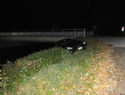 Der Betrunkene fuhr rückwärts statt vorwärts. (Bild: Kapo SG)