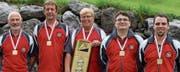 Die Altstätter Armbrustschützen gewinnen die OASV-Goldmedaille 2017. (Bild: pd)