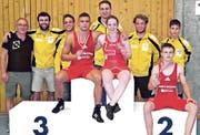 Die RSK konnte zwei CH-Meister, Marc Dietsche und Fabienne Wittenwiler (v. l. Podest), und einen Vizemeister, David Loher, feiern. (Bild: pd)