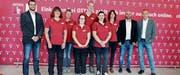Das Altstätter Team mit CEO Mark Ineichen, Regionalverkaufsleiter Alfred Catoni (von rechts) und Verkaufsleiter Armin Leuthardt. Es fehlt der Filialleiter Sven Partusch. (Bild: Susi Miara)