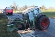 An den beiden am Unfall beteiligten Fahrzeugen entstand Sachschaden von mehreren 10'000 Franken. (Bild: Kapo SG)