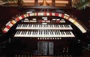 Spieltisch einer Wurlitzer-Orgel. Das Instrument besticht vor allem durch seinen noblen Klang. (Bild: pd)