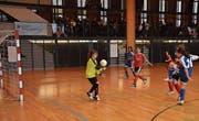 Erstmals wurde bei der diesjährigen Austragung des Cups auf Handballtore geschossen. (Bild: PD)