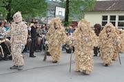 Die vielen Gruppen begeisterten das Publikum des 16. Eierlesefestes in Oberriet. (Bild: Kurt Latzer)