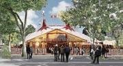 Circus Knie soll bleiben: Das Zelt des Schweizer Nationalzirkus auf dem neugestalteten Spelteriniplatz.