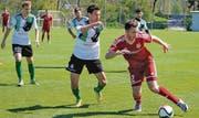 Der FC Rebstein – hier Sascha Haltiner – musste in der Rückrunde die Konkurrenten ziehen lassen. (Bild: Remo Zollinger)