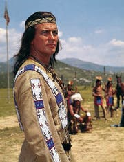 Pierre Brice als Apachenhäuptling Winnetou: Seine Welt brachte Martin Böttcher zum Klingen – und er machte sich selbst damit unsterblich. (Bild: ky)