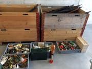 Ein Blick auf die abgegebenen Gegenstände. (Bild: Kapo TG)