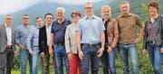 Kandidierende (von links): Jürg Bäuerle, Battista Affuso, Markus Patigler, Ruedi Hofstetter und Norbert Kolb, Christa Kobler, Patrik Schneider, Heidi Bösch, Christof Büchel und Cornelia Loher. (Bild: pd)