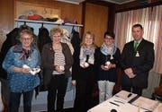 Die neuen Mitglieder: Grit Meienhofer, Ruth Huber, Cornelia Streule, Cornelia Thaddey sowie Präsident Patrick Stillhart (von links). (Bild: PD)