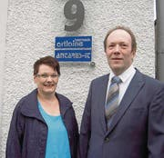 Christina und July Thurnheer liessen sich nach 25 Jahren Ehe kirchlich trauen. (Bild: Franziska Wettstein)