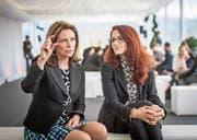 Die israelischen Unternehmerinnen Anat Bar-Gera (links) und Shira Kaplan am St. Gallen Symposium. (Bild: Michel Canonica (St. Gallen, 5. Mai 2017))