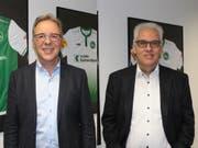 Ivo Forster als CEO der Event AG (links) und der neue FCSG-CFO Walter Schefer. (Bild: PD)