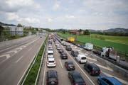 Auf der St.Galler Stadtautobahn war am Freitagabend Geduld gefragt. (Bild: Archiv/Mareycke Frehner (Symbolbild))