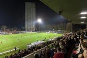 Vollbesetzte Ränge im Stadion Schützenwiese beim Cupmatch Winterthur - St.Gallen. (Bild: Keystone)
