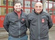Mohamed Afifi (rechts), Kommandant der Jugendfeuerwehr, und sein Stellvertreter Valentin Schättin.