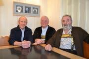 Aktuar Niklaus Scherrer, Präsident Georg Bösch und Kassier Ernst Brunner bilden den Vorstand des Sennenverbands Toggenburg (von links). (Bild: Adi Lippuner)