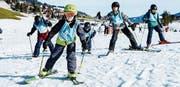 Auf den Pisten des Wildhauser Skigebiets war am Mittwoch reger Betrieb. Rund 100 Kinder aus Winterthur waren im Rahmen von «snow for free» unterwegs. (Bild: PD)