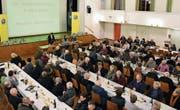 Urs Stillhard, Präsident TCS Regionalgruppe Toggenburg, konnte am Donnerstag gut 100 Interessierte zur 86. HV begrüssen. (Bilder: Urs M. Hemm)
