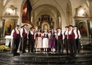 In einer Woche geben in Gossau die Jodlerinnen und Jodler den Ton an. Unter anderem in der Andreaskirche, wie hier 2013 an der Arte Notturna. (Bild: Urs Bucher)