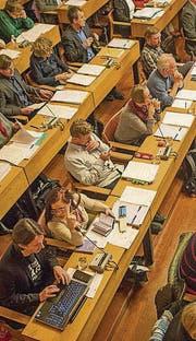 Das Stadtparlament tagt einmal im Monat im Waaghaus. (Bild: Benjamin Manser)