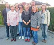 Von links: Bruno Seelos (Präsident SDM), Annelise Baumgartner (Revisorin), Ruth Grössl (Leiterin Kinderbetreuung SDM), Christa Eichmann (Präsidentin), Alexandra Kotarelas (Vermittlerin), Thomas Pfeifer (Vorstand), Maya Dettwiler (Sekretariat), Susanne Aerni (Vorstand); es fehlt: Heidi Schweizer (Revisorin). (Bild: pd)