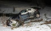 Das verunfallte Auto. (Bild: Kapo SG)