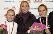Karolina Kozakova (links) wird von ihrer Mutter Jana trainiert. Im Sommer 2017 trainierte auch Alina Granwehr bei ihr. (Bild: Marie Theres Brühwiler)