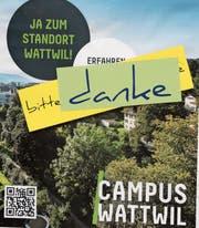 Mit 90 Prozent Ja-Stimmen setzte die Bevölkerung Wattwils im Mai 2017 ein starkes Signal für den Campus. (Bild: Martin Knoepfel)