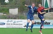 Der FC Rheineck mit Taras Zinko (rechts) hat sich an die Spitze gespielt. (Bild: Ulrike Huber)