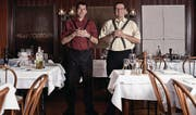 Die «Facincani»-Brüder in ihrem Ristorante: Egiziano Franzon (links) und Gian-Antonio Franzon. (Bilder: Claudio Bäggli)
